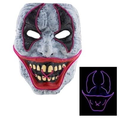 Maska šílený klaun purge - svítící