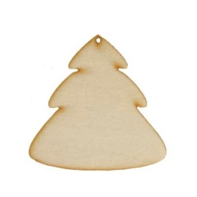 Vánoční ozdoba na zavěšení - stromek zaoblený 8,5cm