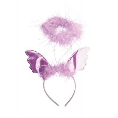 Svatozář a křídla na čelence - růžové