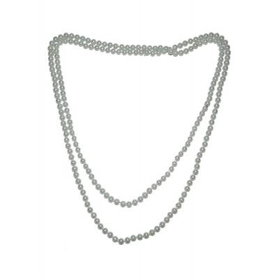 Bílý náhrdelník dlouhý