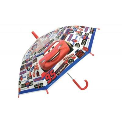 Deštník manual průhledný - Cars