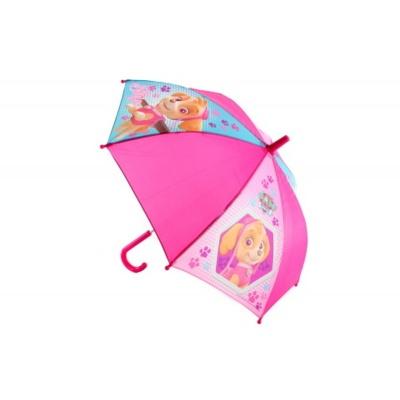 Deštník manual růžový Tlapková patrola