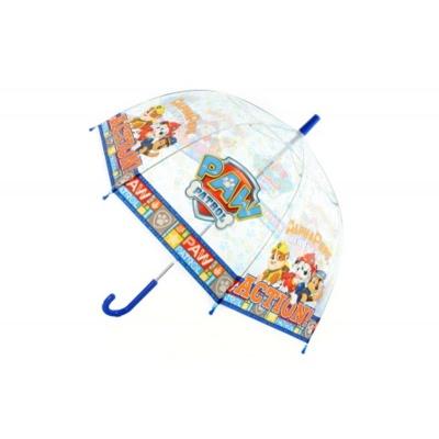 Deštník manualní průhledný Tlapková patrola