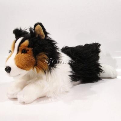 Plyšový pes Shetlandský ovčák černý