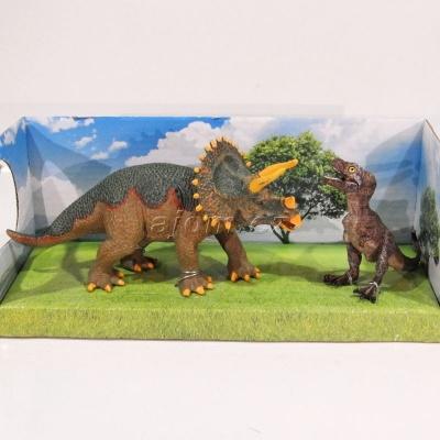 Figurky Dinosaurus 2 kusy v krabičce - Triceratops
