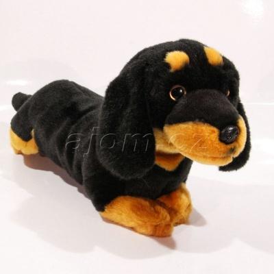 Plyšový Pejsek jezevčík černý 32 cm