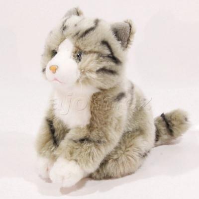 Plyšová Kočka šedá 23cm