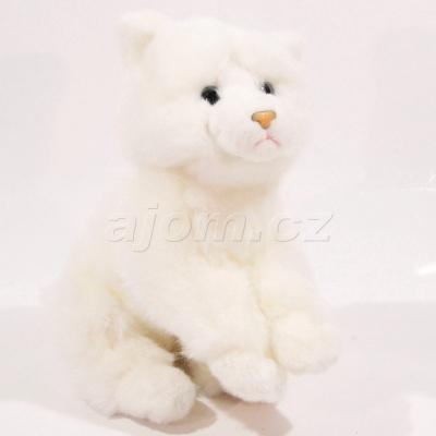 Plyšová Kočka bílá 23cm
