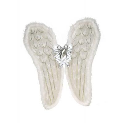 Křídla anděl - bílá luxusní 80cm