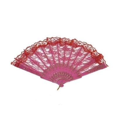 Vějíř krajkový - růžový