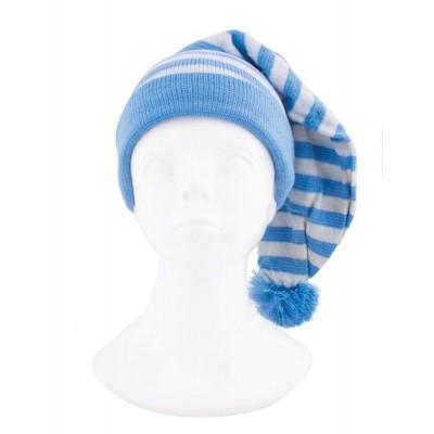 Dlouhá čepice na spaní modrá