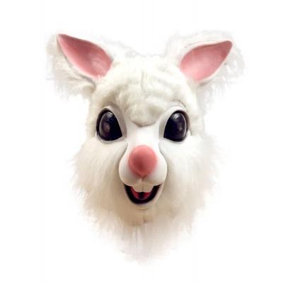 Gumová maska králíček - bílý