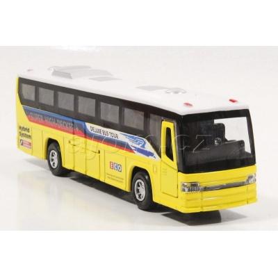 Kovový model autobus se světlem a zvukem 18,5cm žlutý