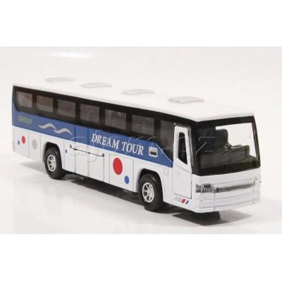 Kovový model autobus se světlem a zvukem - bílý