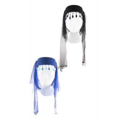 Arabský dámský klobouk se závojem