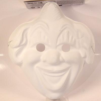 Maska k domalování - klaun