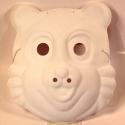 Maska k domalování - medvídek