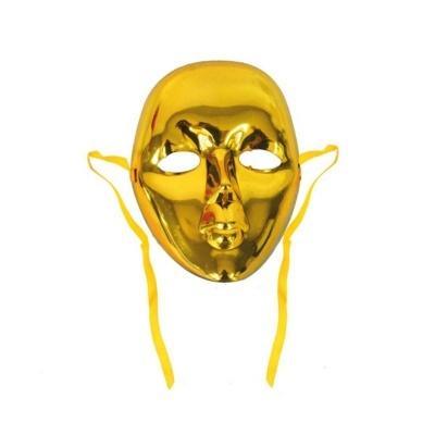 Maska dětská - zlatá