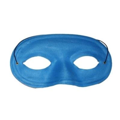 Škraboška maska látková modrá