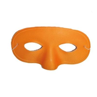 Škraboška maska látková oranžová