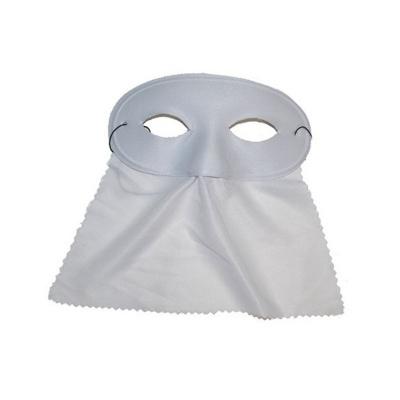 Škraboška maska se závojem oválná - bílá