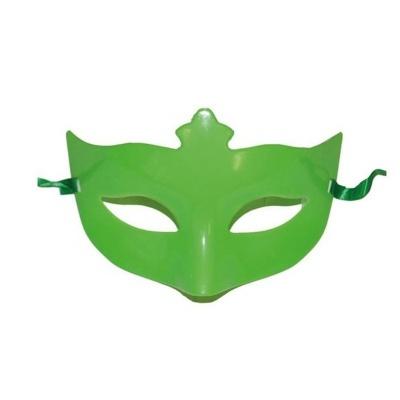 Škraboška maska s korunkou - zelená