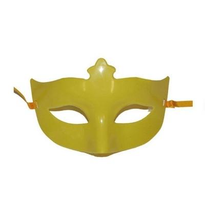 Škraboška maska s korunkou - žlutá
