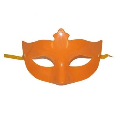 Škraboška maska s korunkou - oranžová