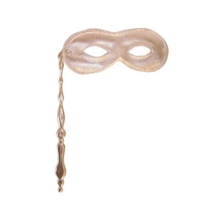 Škraboška maska s tyčkou - stříbrná