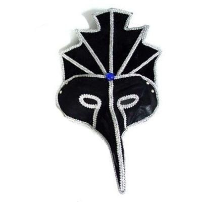Benátská maska - dlouhý nos stříbrná