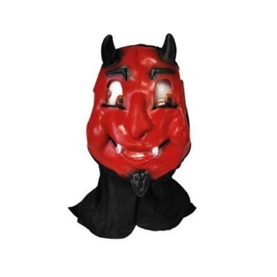 Gumová maska s kapucí Čert