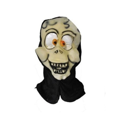 Gumová maska s kapucí Smrtka