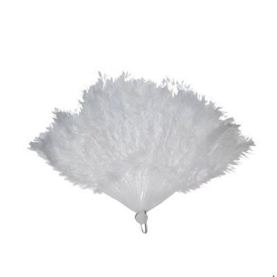 Vějíř - péřový bílý