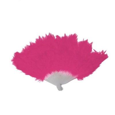 Vějíř - péřový růžový