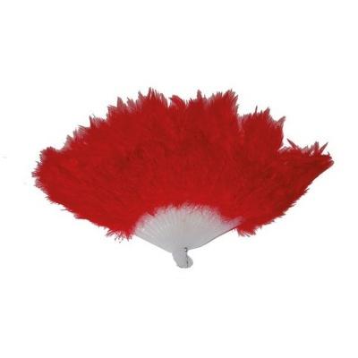 Vějíř - péřový červený