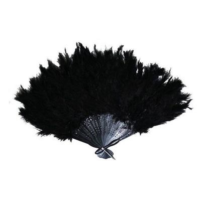 Vějíř - péřový černý