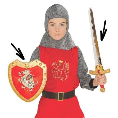 Sada rytíř - meč a štít