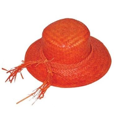 Dámský slamák - oranžový