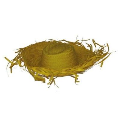 Plážový slamák - žlutý