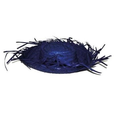 Plážový slamák - modrý