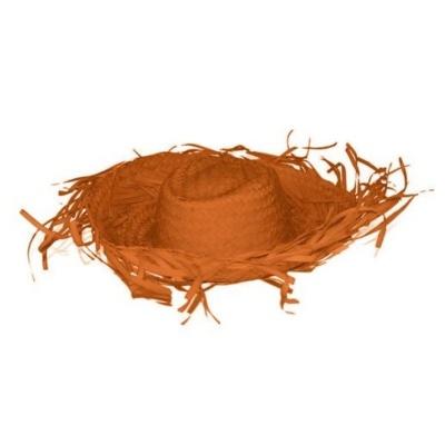 Plážový slamák - oranžový