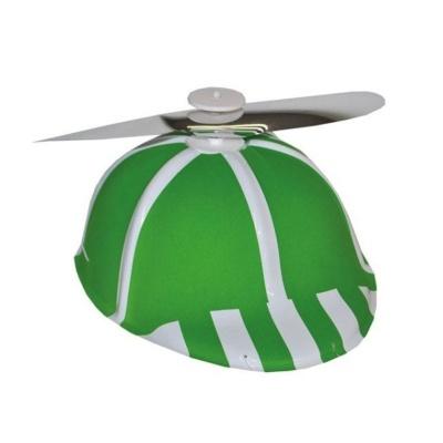 Čepice s vrtulkou - zelená
