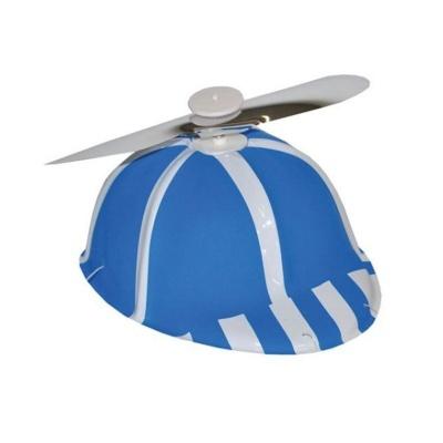Čepice s vrtulkou - modrá