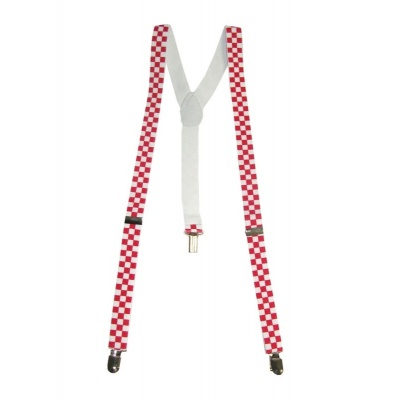 Šle kostičky - červeno bílé
