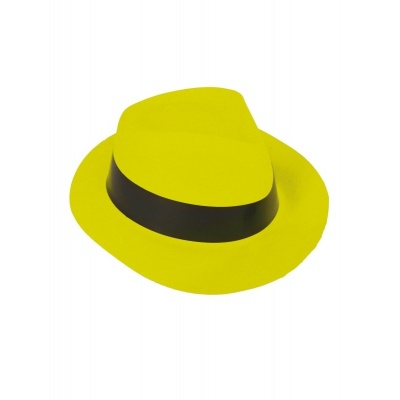 Plastový klobouk - žlutý