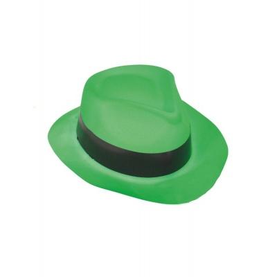 Plastový klobouk - zelený