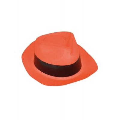 Plastový klobouk - oranžový