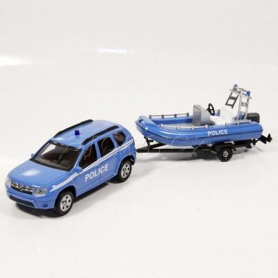 Dacia Duster s člunem Police model auta Mondo Motors 1:43 - 01