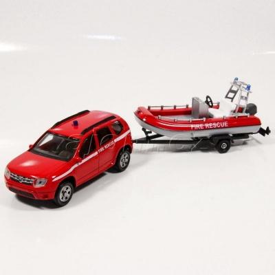 Dacia Duster s člunem Fire Rescue model auta Mondo Motors 1:43 - 02