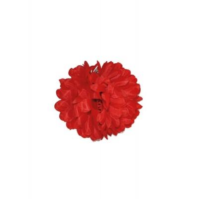 Spona květ do vlasů - červený